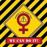 Dia industrial da igualdade das mulheres do símbolo Fotos de Stock