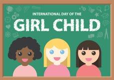 Dia internacional da criança da menina Imagem de Stock