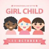 Dia internacional da criança da menina Foto de Stock