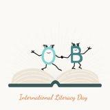 Dia internacional da instrução com caráteres de letra Imagens de Stock Royalty Free