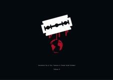 Dia internacional da tolerância zero ao vetor genital fêmea da mutilação ilustração do vetor