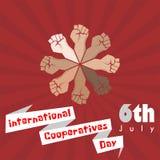 Dia internacional das cooperativas ilustração royalty free