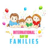 Dia internacional das famílias ilustração royalty free