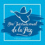 Dia internacional de la Paz, International day of Peace spanish translation Royalty Free Stock Photography