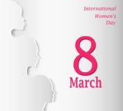 Dia internacional do ` s das mulheres ilustração stock