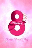 Dia internacional do ` s das mulheres Foto de Stock