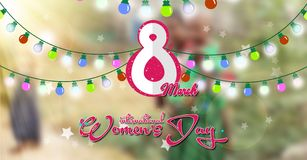 Dia internacional do ` s das mulheres, luz colorida Imagem de Stock