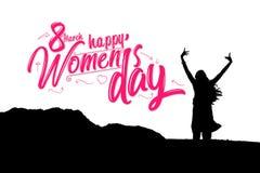 Dia internacional feliz do ` s das mulheres, molde do cartão Imagens de Stock Royalty Free