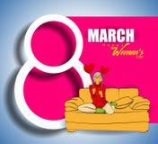 Dia internacional feliz do ` s das mulheres o 8 de março Foto de Stock Royalty Free