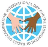 Dia internacional para a eliminação da discriminação racial ilustração stock