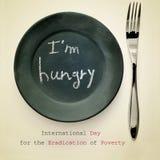 Dia internacional para a erradicação da pobreza Imagens de Stock Royalty Free