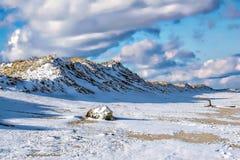 Dia invernal na praia Imagem de Stock Royalty Free