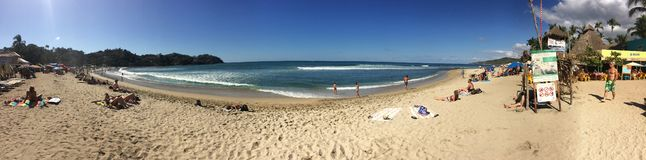 Dia lindo na praia de Sayulita imagens de stock royalty free