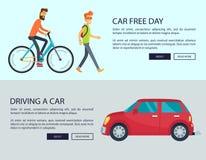 Dia livre do carro e condução da ilustração do vetor do carro ilustração royalty free