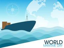 Dia marítimo do mundo ilustração stock
