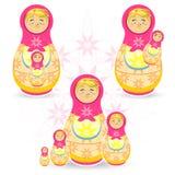 Dia Matryoskha de Motherâs Foto de Stock Royalty Free