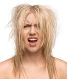 Dia mau do cabelo Imagens de Stock
