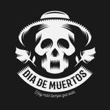Dia mexicano da ilustração monocromática inoperante ilustração do vetor
