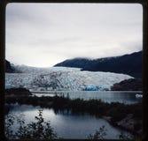 Dia 35 mm aan foto Familievakantie door de cruise van Utah, van Colorado en van Alaska Stock Afbeelding