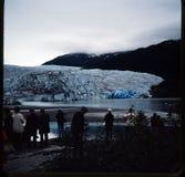 Dia 35 mm aan foto Familievakantie door de cruise van Utah, van Colorado en van Alaska Stock Foto's