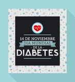 Dia mundial de la Diabetes - World Diabetes Day 14 november spanish text. Vector illustration card, poster or banner - eps available Stock Image