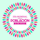 Dia Mundial de la Poblacion, World Population Day spanish text. Vector design - eps available Stock Images