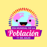 Dia Mundial de la Poblacion, World Population Day spanish text. Vector design - eps available Royalty Free Stock Images