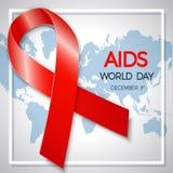 Dia Mundial do Sida 1º de dezembro cartaz do Dia Mundial do Sida Illus do vetor Imagem de Stock Royalty Free