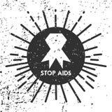 Dia Mundial do Sida, cartaz e citações, mensagem inspirada Imagem de Stock Royalty Free