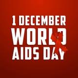Dia Mundial do Sida, cartaz e citações, mensagem inspirada Fotografia de Stock Royalty Free