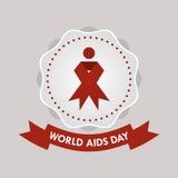 Dia Mundial do Sida, cartaz e citações, mensagem inspirada Imagens de Stock
