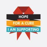 Dia Mundial do Sida, cartaz e citações, mensagem inspirada Foto de Stock Royalty Free