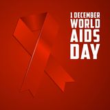 Dia Mundial do Sida, cartaz e citações, mensagem inspirada Imagens de Stock Royalty Free