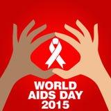 Dia Mundial do Sida, cartaz e citações, mensagem inspirada Fotografia de Stock