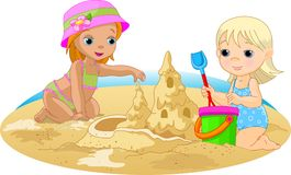 Dia na praia Fotografia de Stock Royalty Free
