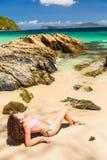 Dia na praia Foto de Stock