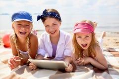 Dia na praia imagens de stock