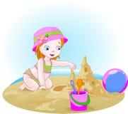 Dia na praia. Fotos de Stock