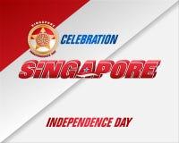 Dia nacional da república de Singapura Foto de Stock Royalty Free