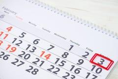 Dia nacional do bolo de cenoura 3 de fevereiro marca no calendário, fim Fotografia de Stock Royalty Free