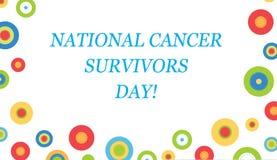 Dia nacional dos sobreviventes do câncer! Foto de Stock