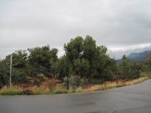 Dia nebuloso de Sedona o Arizona Foto de Stock Royalty Free