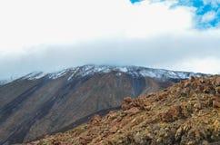 Dia nebuloso no parque nacional do EL Teide Fotos de Stock