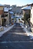 Dia nevado em Monfalcone, Italia Imagens de Stock Royalty Free