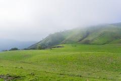 Dia nevoento nos montes da serra conserva do espaço aberto da vista, sul San Francisco Bay, Califórnia fotografia de stock