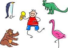 Dia no jardim zoológico ilustração do vetor