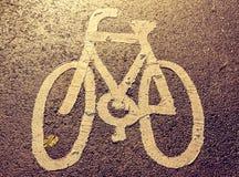 Dia para um passeio - sinal da bicicleta fotografia de stock