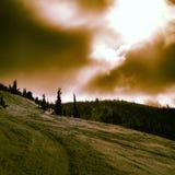 Dia perfeito ao esqui Foto de Stock Royalty Free
