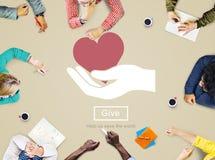 Dia prego l'aiuto di cura per sostenere donano il concetto della carità Immagini Stock
