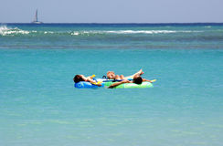 Dia preguiçoso na água Imagens de Stock Royalty Free